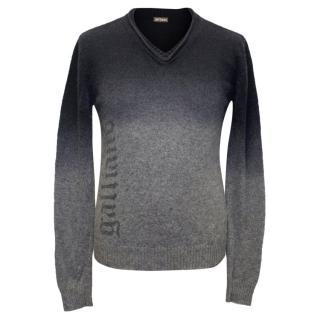 Galliano Black and Grey Ombre Jumper