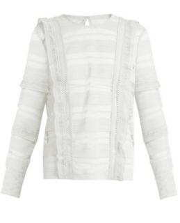 Self Portrait white lace top/blouse