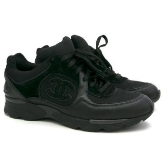 Chanel Black Trainers