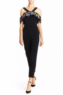 Peter Pilotto Cady Embroidered Crepe Jumpsuit