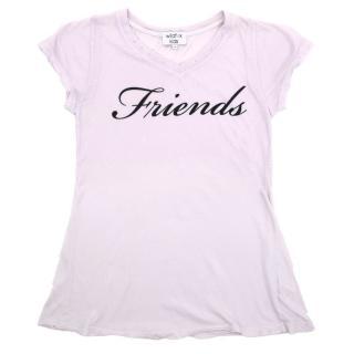 Wildfox Kids 'Friends' Purple Distressted Top