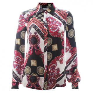 Versace Collection Silk Printed Shirt
