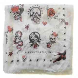 Alexander McQueen Skull Tattoo scarf