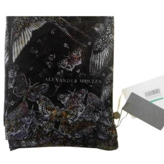 Alexander McQueen Wildflower Flight printed silk scarf