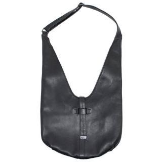 Halston Black City Casual Hobo Bag
