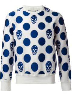 Alexander McQueen Skull and Polka Dot Sweatshirt