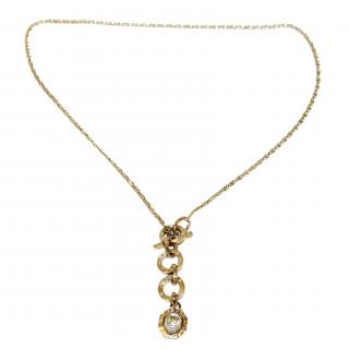 CHANEL Necklace-soft gold/pearl