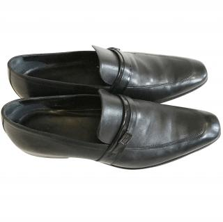 Hugo Boss leather mens loafers
