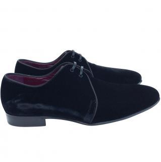 Dolce & Gabbana velvet derby shoes