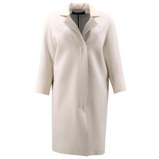 Roland Mouret Cream Contrasting Coat