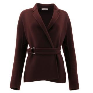Celine Burgundy Cashmere Coat