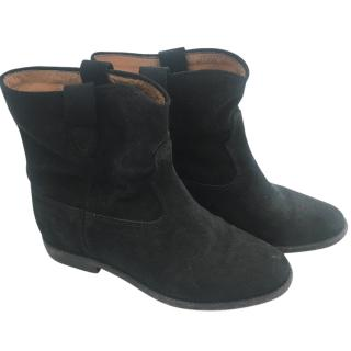 Isabel Marant Black Suede Crisi Boots