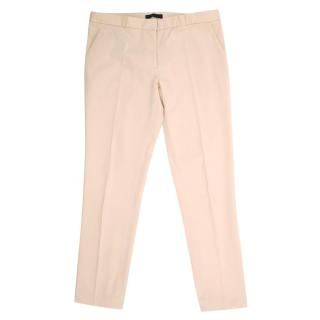 The Row Cream Straight- Leg Trousers
