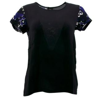 Daslu Black Silk Top
