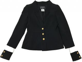 Chanel Black Jacket With Unique Cuffs