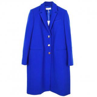Emilio Pucci wool and cashmere blue coat