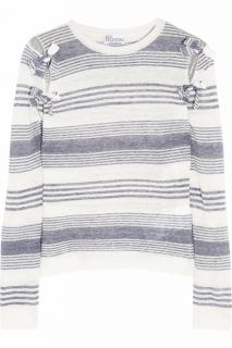 Red Valentino Striped linen top