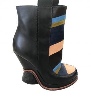 Fendi stripe boots
