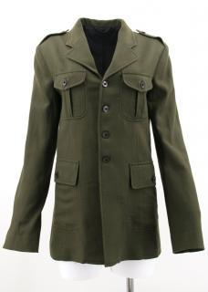 Haider Ackermann Green Wool Coat