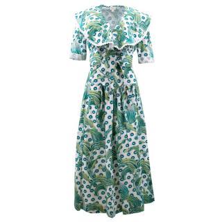 Temperley Green Pattern Skirt Two Piece