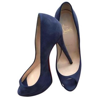 Christian Louboutin Blue Suede Pumps
