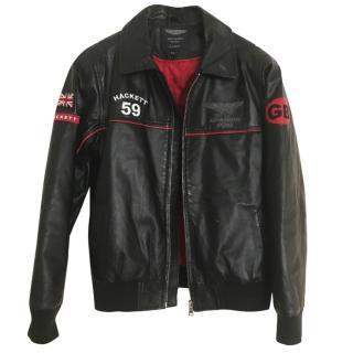 Hackett Aston Martin Racing Leather Jacket