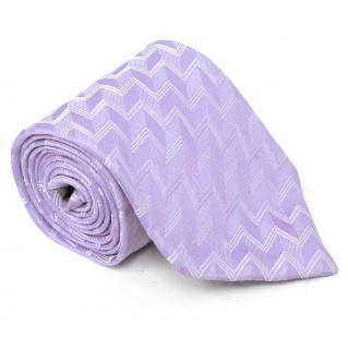 Giorgio Armani Purple Zigzag Silk Tie