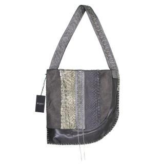 Balmain Grey Python Shoulder Bag