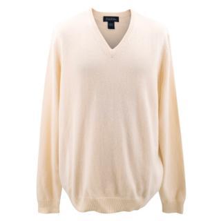 Brooks Brothers Cream Cashmere Sweater