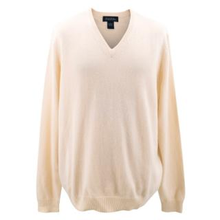 Brooks Brothers Cream Cashmere Sweater
