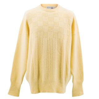 Turnbull and Asser Yellow Cashmere Jumper