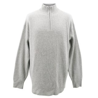 TSE Pure Cashmere Grey Turtle Neck Sweater