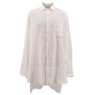Yohji Yamamoto Cream Long Shirt