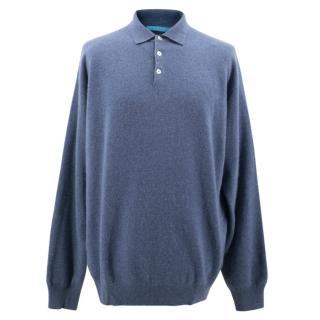 House of Cahsmere Blue Collar Jumper