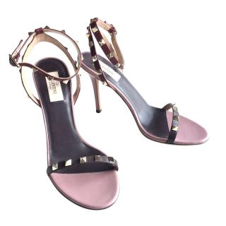 VALENTINO Rockstud two-tone leather sandals