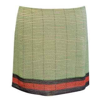 Krizia Multi-coloured Silk Embroidered Skirt