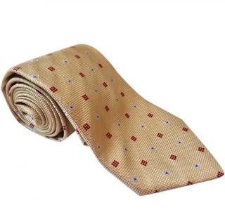 Ermenegildo Zegna Pale Yellow Woven Silk Tie