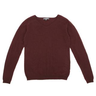 Bonpoint Kids Burgundy Cashmere Sweater