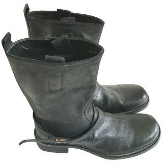 Neil Barrett black mens leather boots