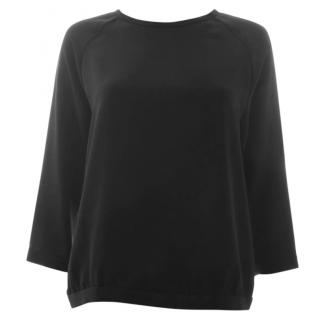 Tibi Crepe 3/4 Sleeve Top