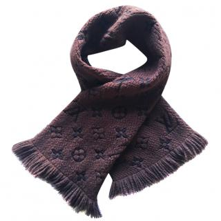 Louis Vuitton brown wool & silk scarf