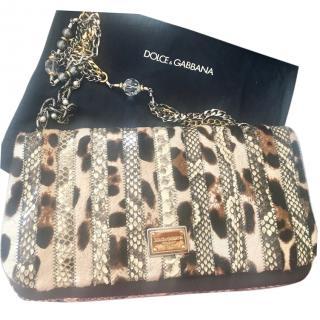 Dolce & Gabbana Python & Leopard Bag