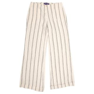 Ralph Lauren Collection Striped Linen Trousers