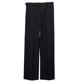 Chloe Black Wool Trousers