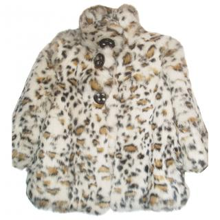 MISS GRANT natural fur girls coat
