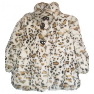 MISS GRANT natural fur girls coat