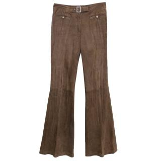 John Galliano Brown Bell Bottoms