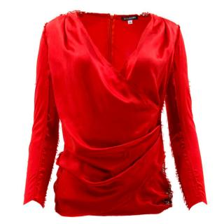 Balmain Red Safety Pin Top