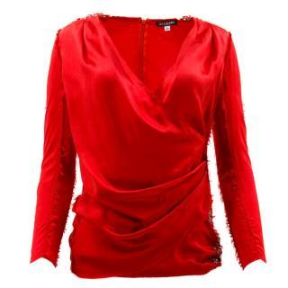 Balmain Red Safety Pin Top