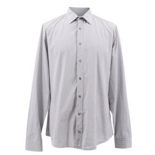 Gucci Grey Striped Shirt